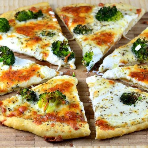 Four Cheese White Broccoli Pizza