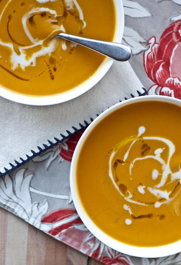 Acorn Squash and Sweet Potato Soup