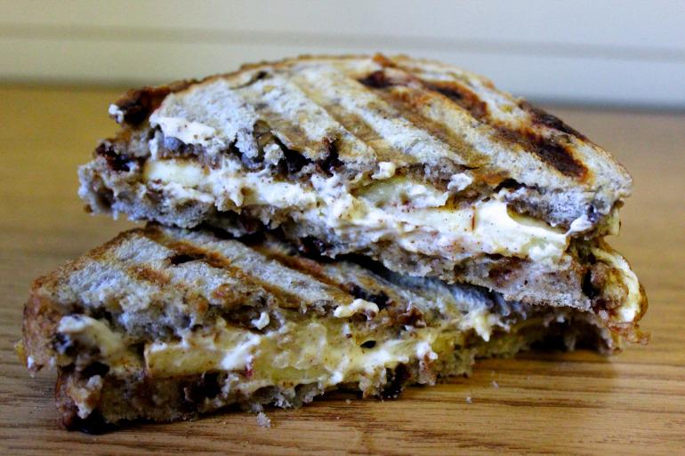 Apple, Goat Cheese, Almond Butter Panini