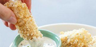 Baked Panko Fish Sticks With Lemon Caper Mayonnaise