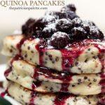 Black Quinoa Pancakes
