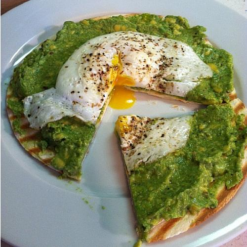 Avocado And Egg Pizza
