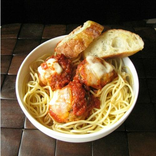 Crockpot Chicken Parmesan Meatballs