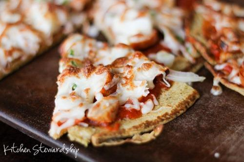Superfoods for Kids- Chickpea Flour Crust Pizza