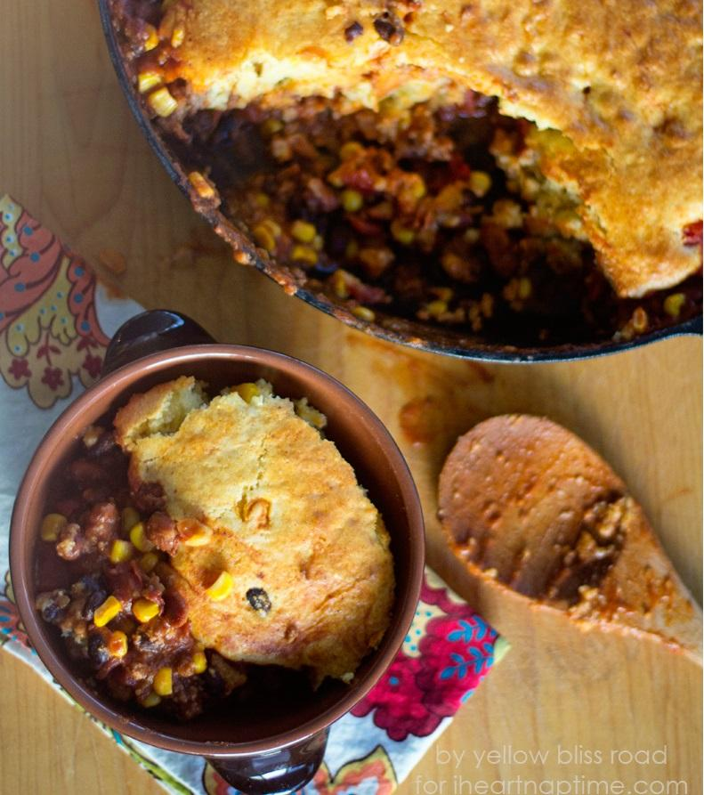 Chili and Cornbread Skillet