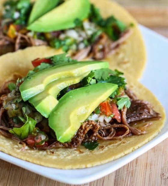 Crock Pot Beef Carne Asada Tacos