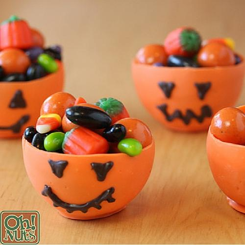Edible Pumpkin Candy Chocolate Cups