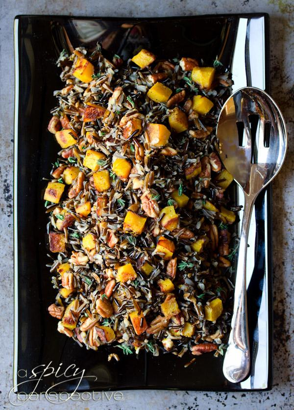 Black Rice - Forbidden Rice with Acorn Squash and Pecans