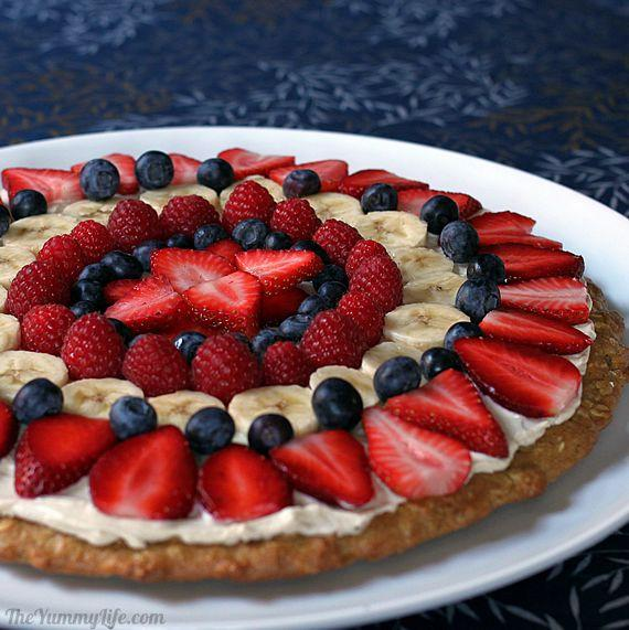 Healthy Oat & Yogurt Fruit Pizza