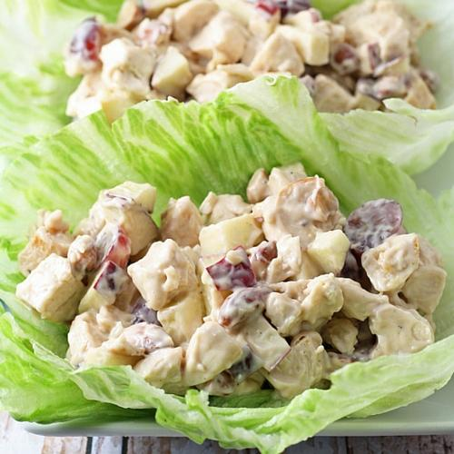 Grilled Chicken Salad Lettuce Wraps With Honey Balsamic Vinaigrette