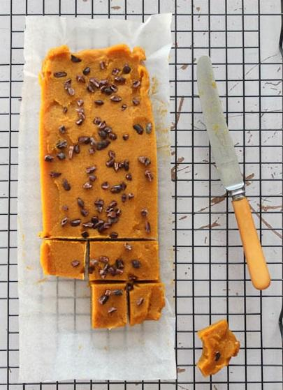 Pumpkin Desserts- Healthy Caramel and Pumpkin Spice Fudge.