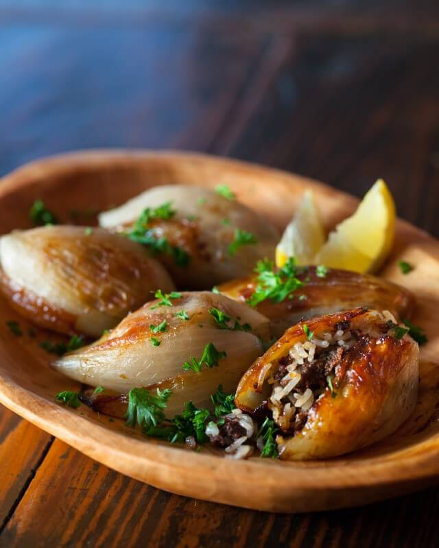 Sukkot Recipes- Lebanese Stuffed Onions. Jewish Foods