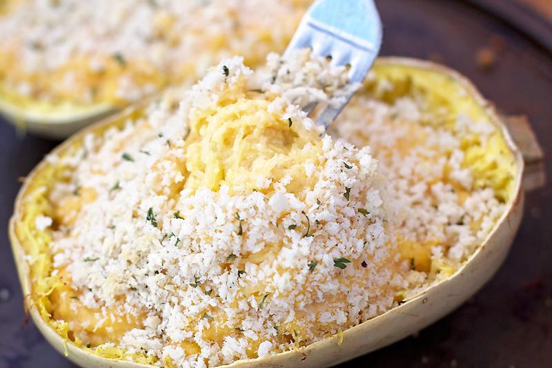 Mac n Cheese Spaghetti Squash