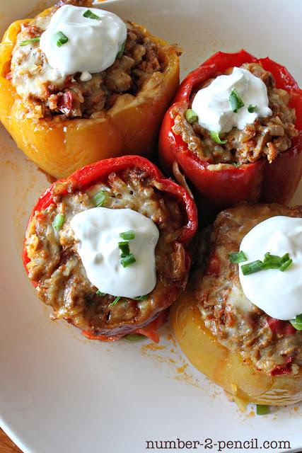 crockpot recipes- Mexican Stuffed Bell Peppers