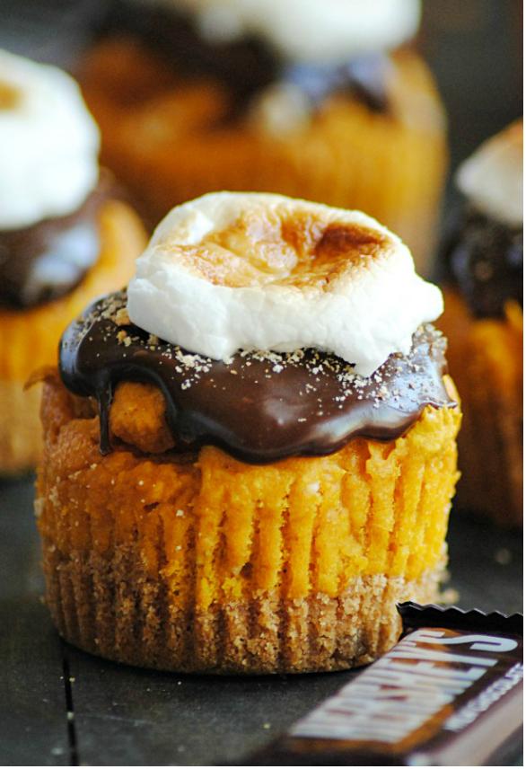 Pumpkin Desserts- Pumpkin S'mores Cupcakes. pumpkin desserts, pumpkin dessert recipes