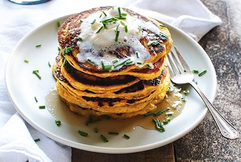 Acorn Squash Recipes- Roasted Acorn Squash And Shallot Pancakes
