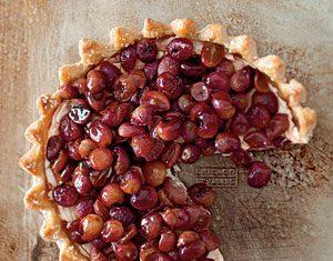 Roasted Grape And Mascarpone Cheese Pie