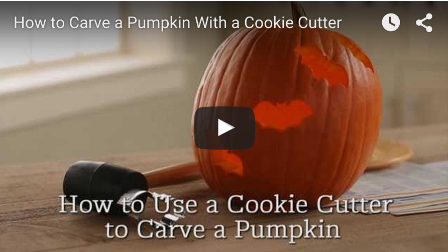 How to carve a pumpkin with kids and cookie cutters. Super easy trick to carve pumpkins.