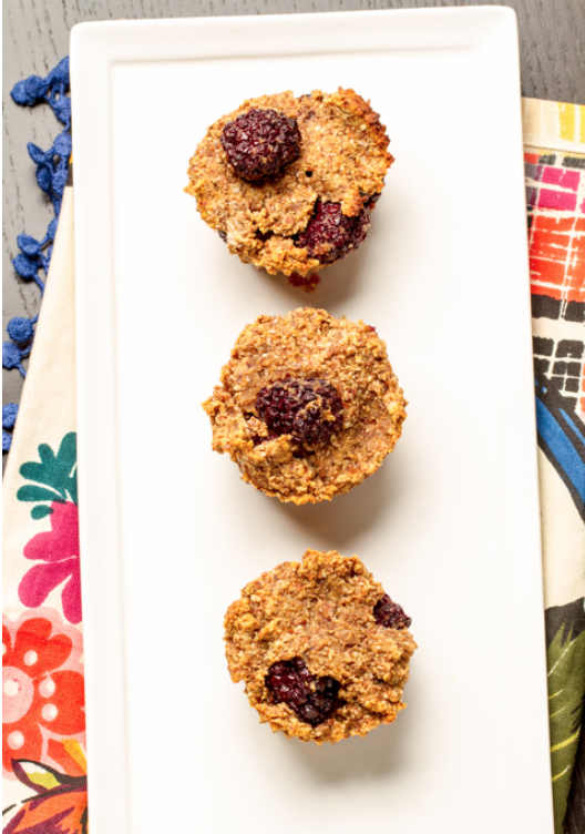 Almond Meal Blackberry Muffins