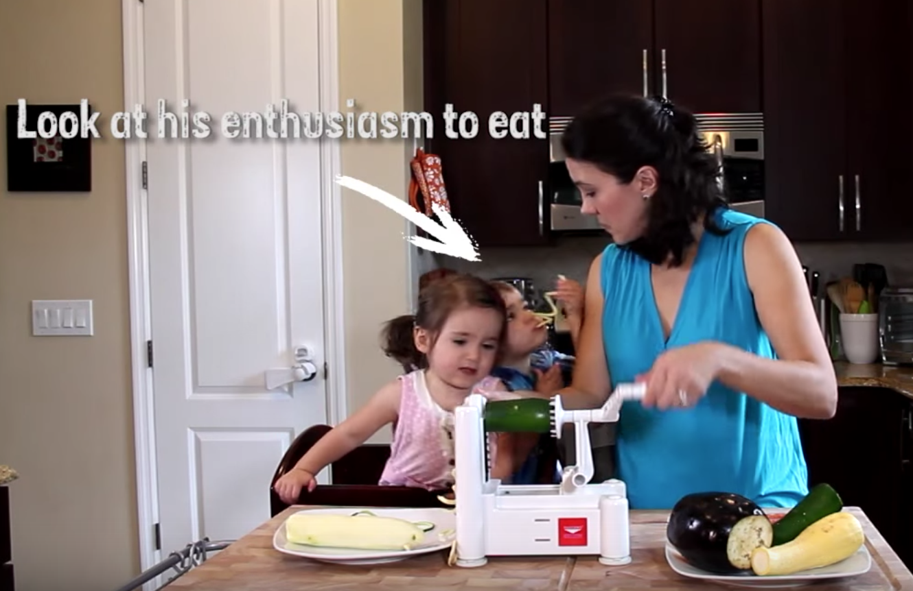 Vegetable Spiralizer How to get Kids to eat their vegetables