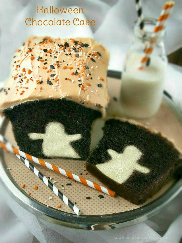 Spooky Halloween Ghost Cake