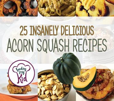 Try these amazing acorn squash recipes. Everyone will love these! Feeding My Kid is a website for parents, filled with all the information you need about how to raise your kids, from healthy tips to nutritious recipes. #acornsquashrecipes #recipes #vegetables