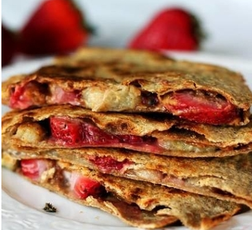 Grilled Fruit Quesadilla