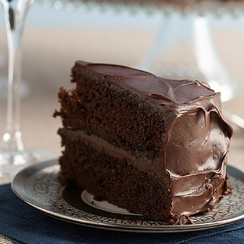 Double Deep Chocolate Hanukkah Layer Cake