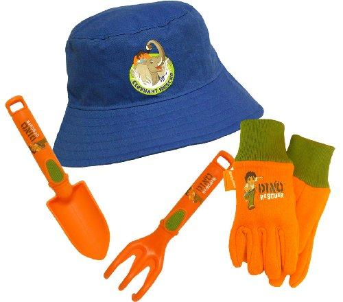 Midwest Gloves and Gear DO7-P4, Diego 4 Piece Kids Garden Glove and Accessory Combo Pack
