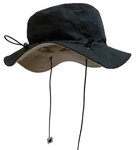 N'Ice Caps Unisex Kids Reversible And Adjustable Cotton Twill Aussie Hat