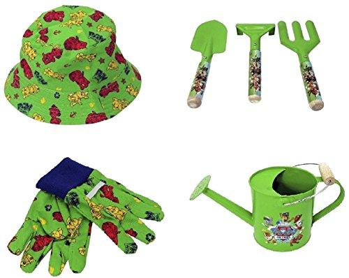 Paw Patrol Sun Hat, Watering Can, Toolset and Gloves Outdoor Play Toy Set