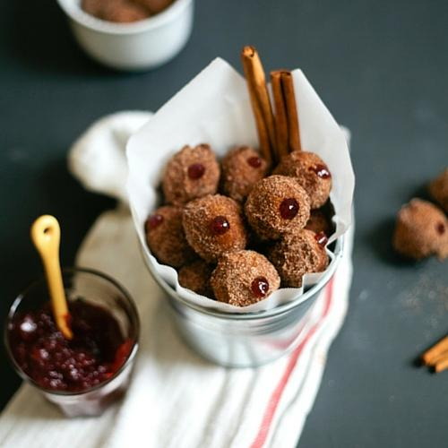Pumpkin Cranberry Munchkins For Thanksgivukkah