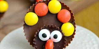 Reese's Turkeys. Thanksgiving Day Desserts for the Whole Family to Enjoy.