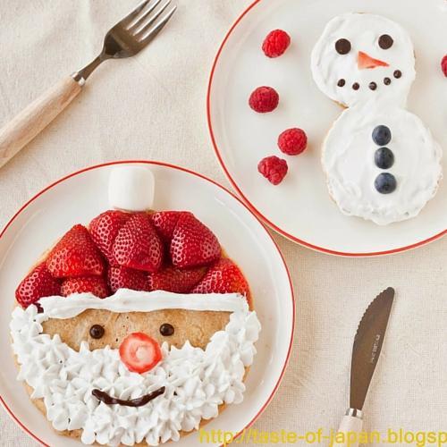 Santa Claus And Snowman Pancakes