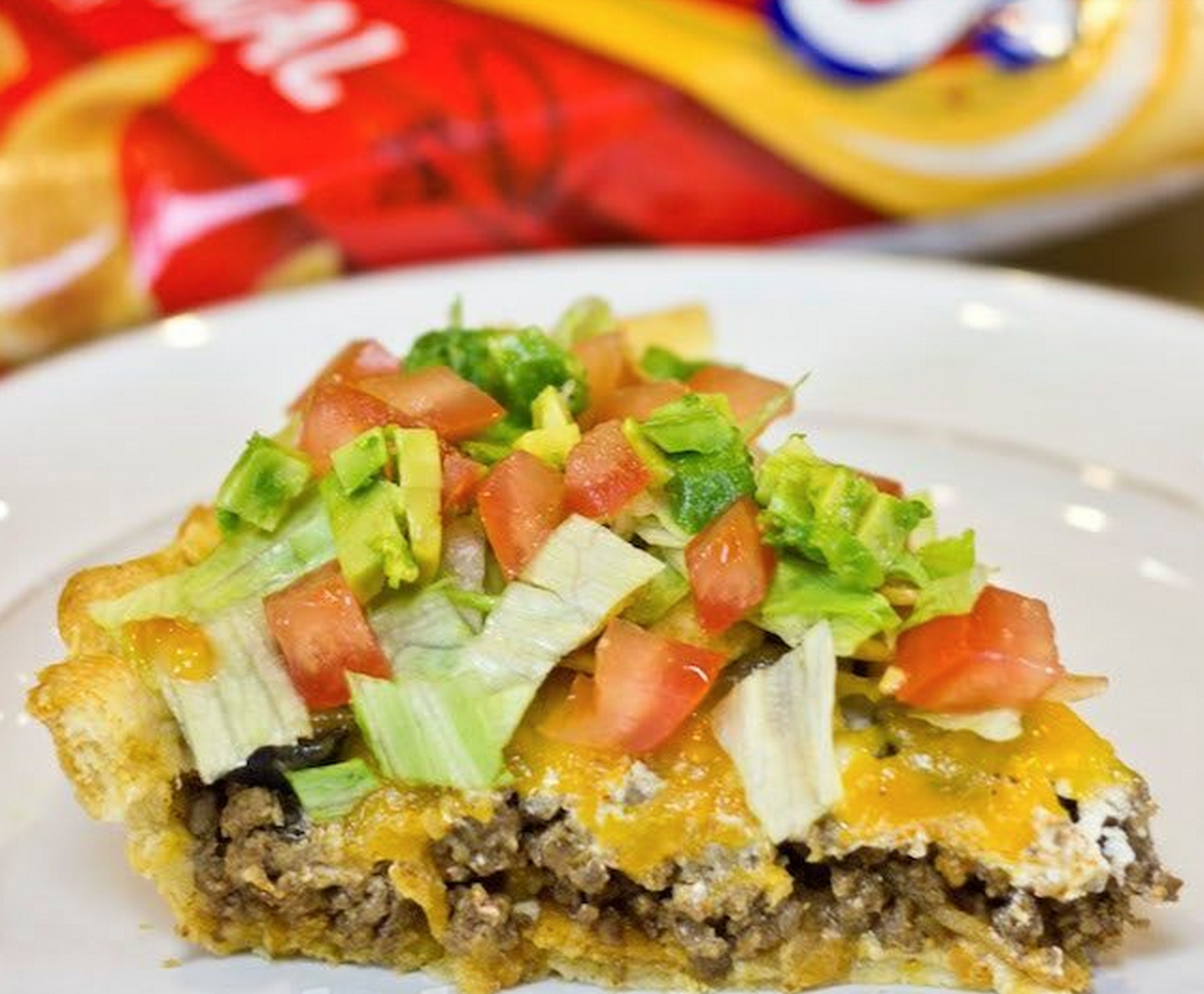 Taco Pie with Frito Crust