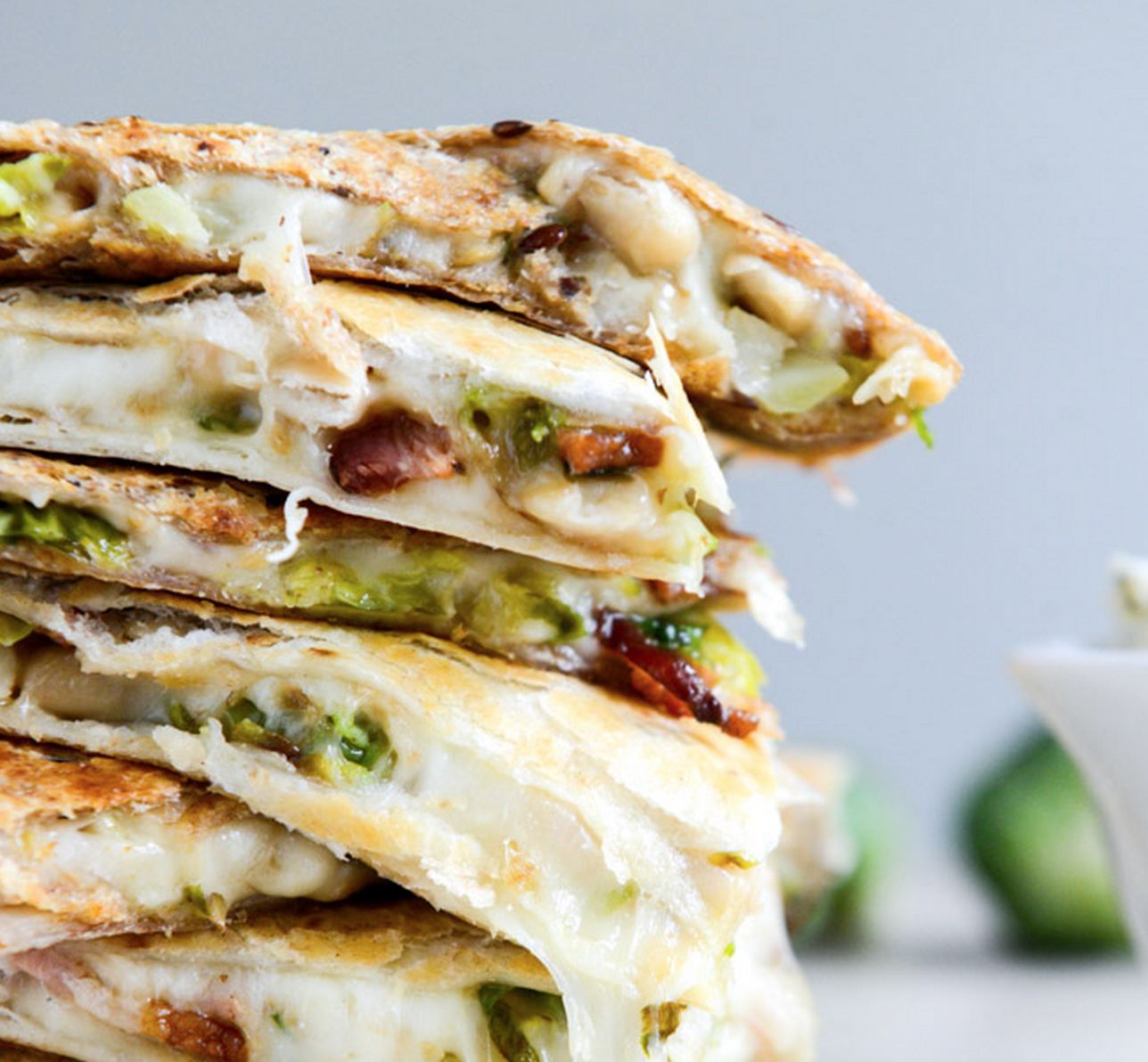 Brussels, Bacon, & Beans Quesadilla
