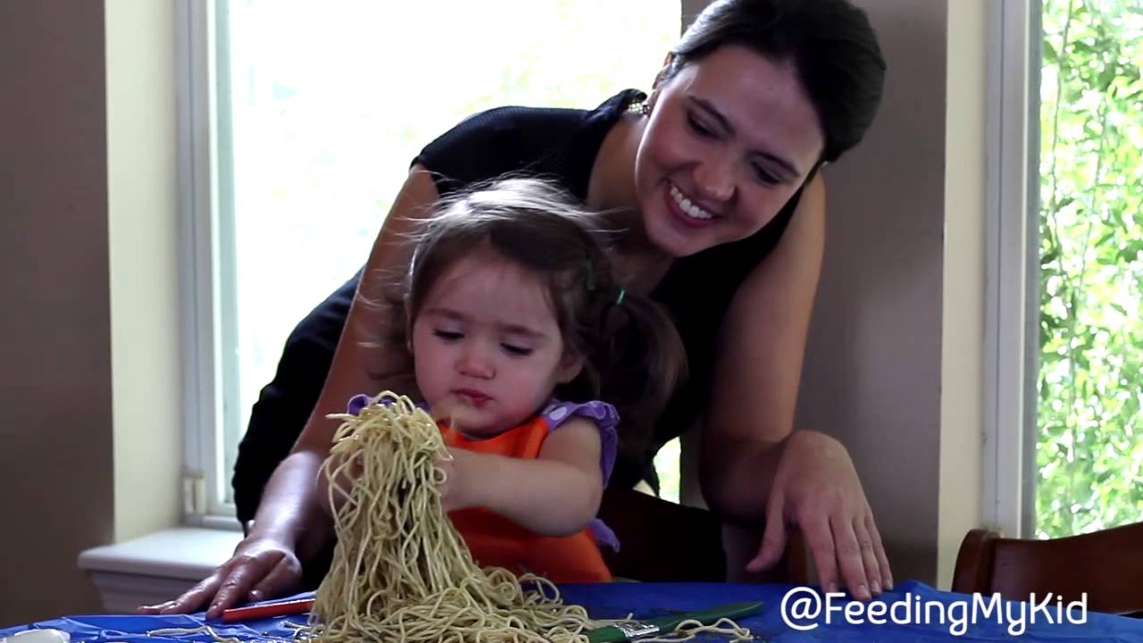 Help Your Kids With Food Textures Through Play [Sensory Play Spaghetti]. Is your child's sensitivity to textures not allowing him or her to eat a larger variety of foods? Check out our video series on ways to help your child overcome his or her texture issues.