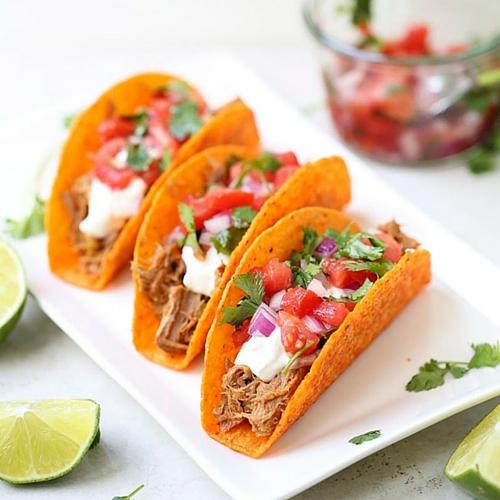 Shredded Beef Tacos With Pico De Gallo