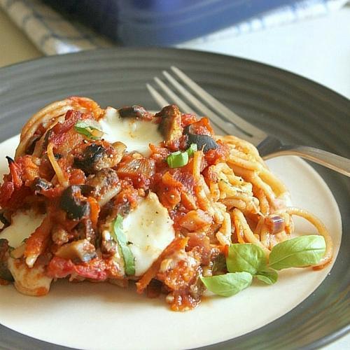 Spaghetti And Meatballs Casserole