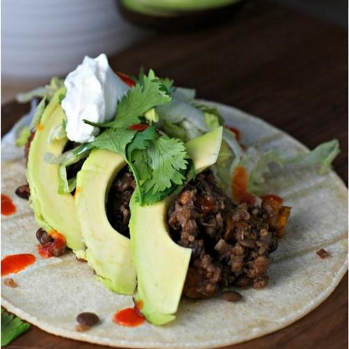 Crockpot Quinoa Lentil Tacos