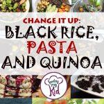 Do you know what black rice is? What about black pasta? Or maybe black quinoa? Check out all the fun ways to use these grains to make your mealtimes more spooky! And healthy!