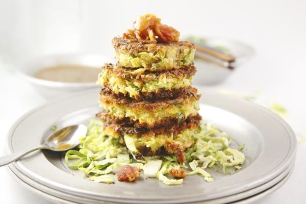 Brussels Sprouts, Bacon and Leek Fritters
