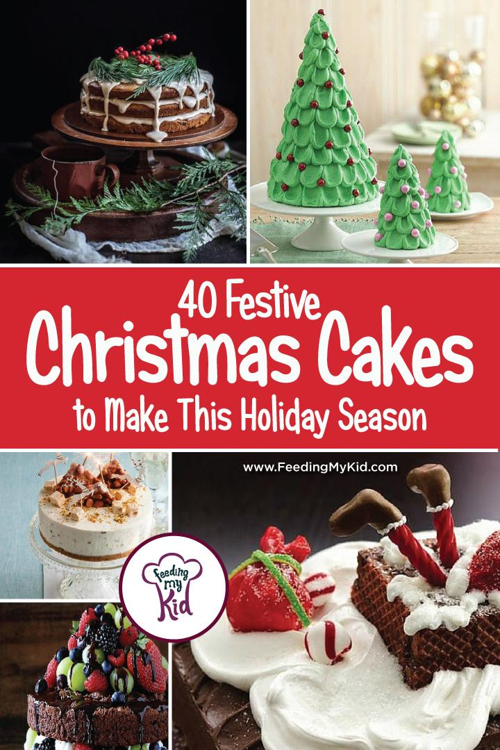 40 Festive Christmas Cakes to Make This Holiday Season - Check out our list of 40 delicious and festive cakes that are perfect to serve at your Christmas party or bring to your next holiday gathering. From nougat cheesecake to santa hat mini cupcakes, these are treats everyone will enjoy, from the tiniest little tim to the biggest old scrooge!
