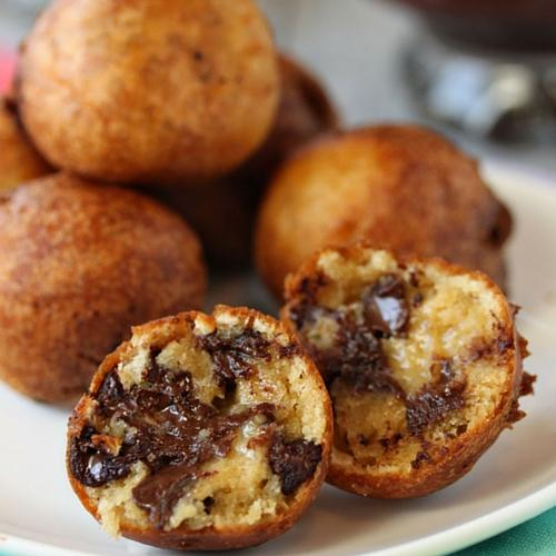 Deep Fried Chocolate Chip Cookie Dough