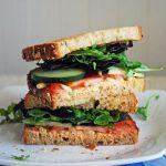 Goat Cheese And Veggie Sandwich