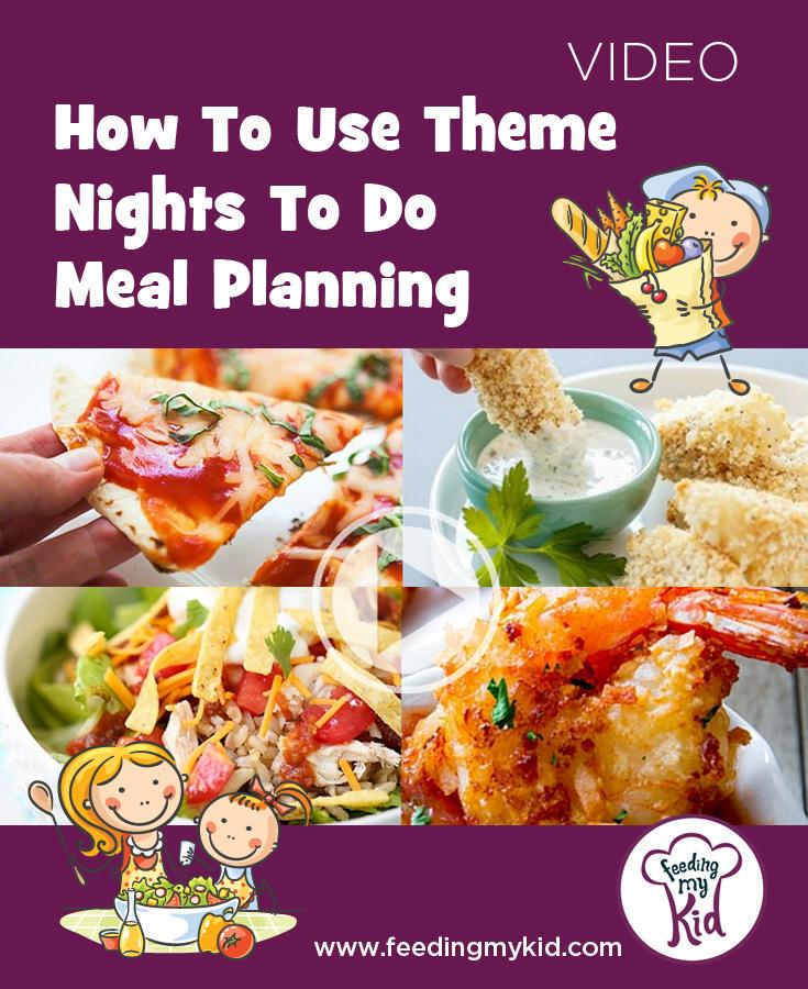 We recommend theme nights (Taco Tuesday, Fish Stick Fridays, etc.) to keep it different at the dinner table. Family favorites make meal planning easier!