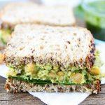 Smashed Chickpea, Avocado, And Pesto Salad Sandwich
