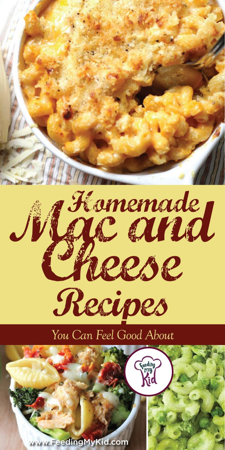 This is a must pin! Do you like mac and cheese? Here are the perfect homemade mac and cheese recipes for just about anyone! Feeding My Kid is a website for parents, filled with all the information you need about how to raise your kids, from healthy tips to nutritious recipes. #macandcheese #recipes