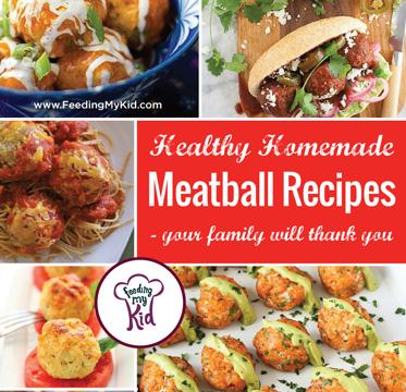 Try these amazing healthy homemade meatball recipes. They're perfect for the whole family! Feeding My Kid is a website for parents, filled with all the information you need about how to raise your kids, from healthy tips to nutritious recipes. #meatballs #recipes