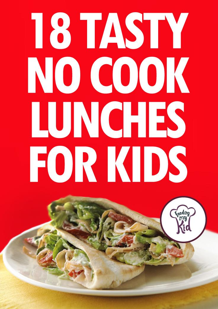18 Tasty No Cook Lunches For Kids - We've put together a list of no cook lunches that you can prepare for your children right in the morning before school. Take the hassle out of preparing healthy and fun lunches. Check out these amazing recipes!